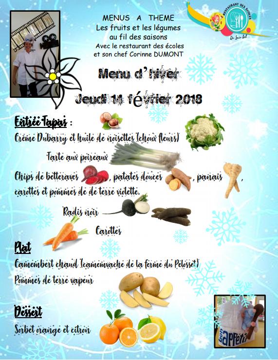 menu hiver